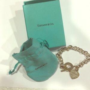 Tiffany & Co. Heart Tag Charm Bracelet.